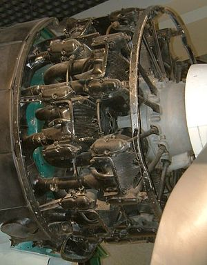 Nakajima Sakae - Nakajima Sakae engine on a Mitsubishi Zero