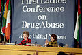Nancy Reagan. United Nations First Ladies Conference on Drug Abuse.jpg
