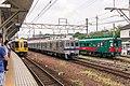 Nankai trains at Hashimoto Station 2015-08-11.jpg