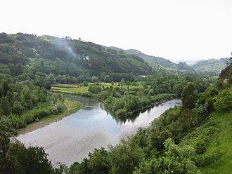 Narcea (river) - The Narcea at its confluence with the Nalón River