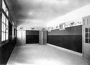 Nathan Straus - A hall in Nathan Straus Health Center in the late 1920s