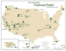 List Of National Parks Of The United States Wikipedia - Us map showing national parks