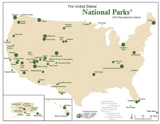 Us Map State Parks List of national parks of the United States   Wikipedia