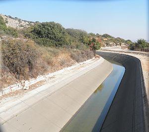 Mekorot - Segment of the National Water Carrier near Kibbutz Hukok