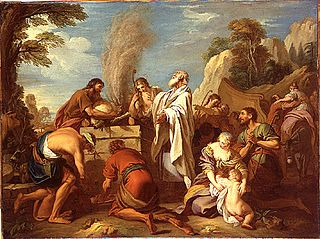Manué offre un sacrifice au Seigneur pour obtenir un fils