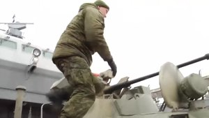Файл:Naval infantry exercise with BTR-82A in Baltic Sea (17-03-2020).webm