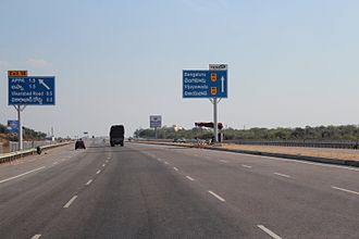 Outer Ring Road, Hyderabad - A glimpse of the ORR while heading from Gachibowli towards Shamshabad