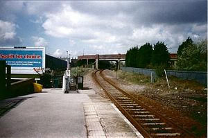 New Clee railway station - Image: New Clee railway station in 2003