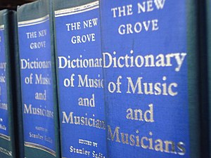 The Grove Dictionary of Music and Musicians