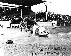 Houston Buffaloes - New York Yankees at Houston in West End Park during a spring training exhibition game in 1914