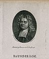 Nicholas Saunderson (Sanderson). Line engraving by T. Rothwe Wellcome V0005226EL.jpg