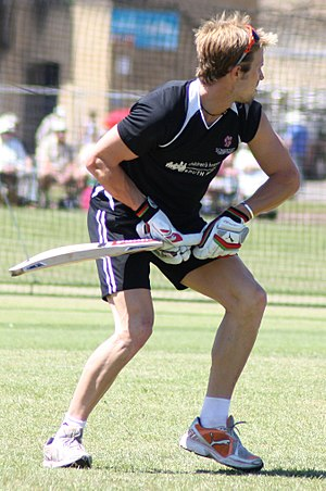 Nick Compton - Compton training prior to a CB40 match against Worcestershire.