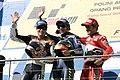 Nicky Hayden, Valentino Rossi and Carlos Checa 2005 Phillip Island.jpg