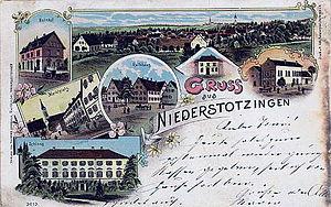 Niederstotzingen - Postcard from 1900 of Niederstotzingen