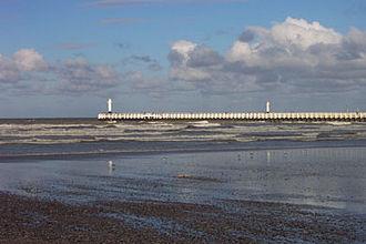 Nieuwpoort, Belgium - Image: Nieuwpoort pier