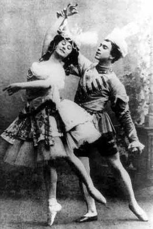 Anna Pavlova & Vaslav Nijinsky in Le Pavillon ...
