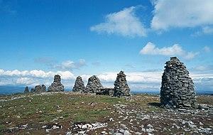 Nine Standards Rigg - The Nine Standards on the summit