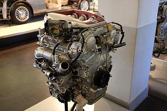 Nissan VR engine - Nissan VR38DETT Engine at Nissan Engine Museum in Yokohama, Japan