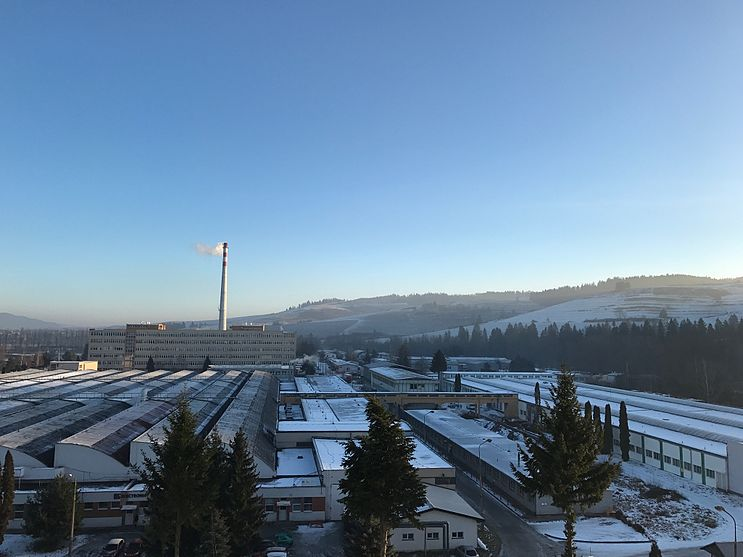 Nizna - Industrial zone in winter of 2016