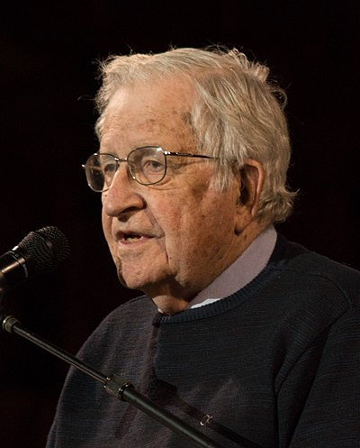 Picture of an author: Noam Chomsky