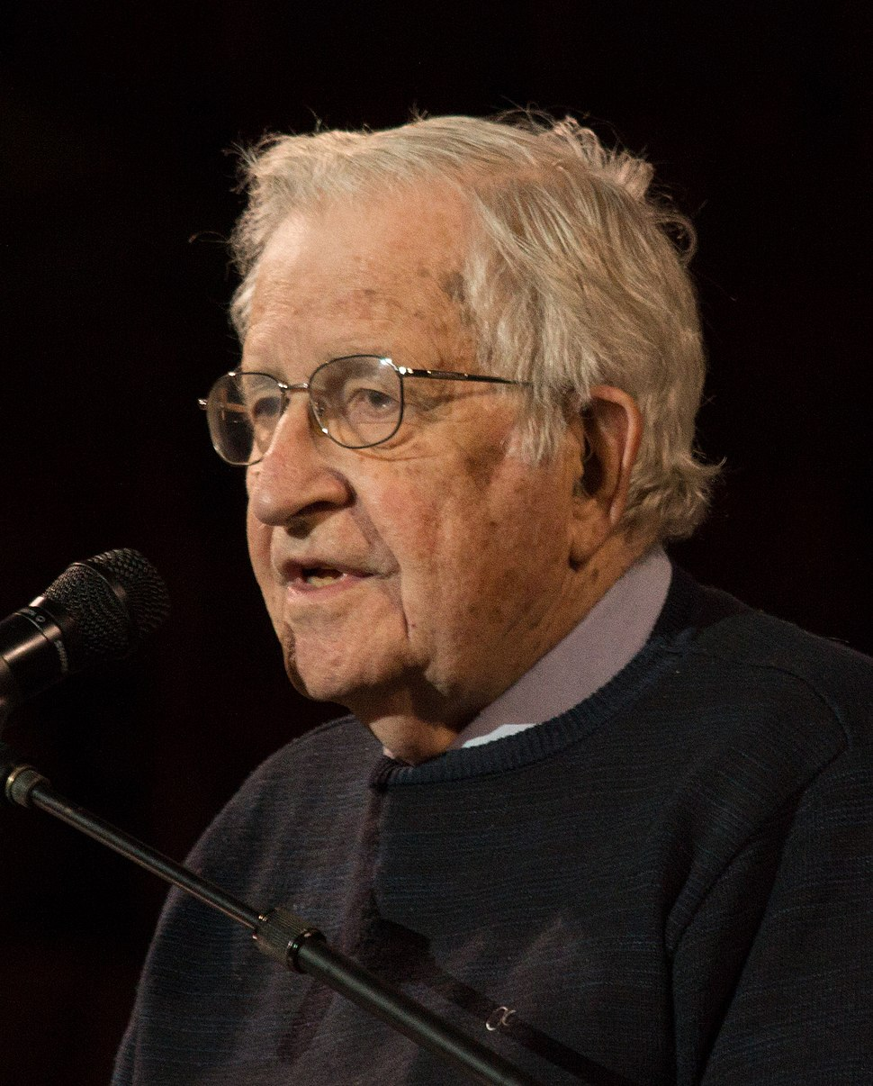Noam Chomsky portrait 2017