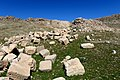 Non-inscribed stone blocks scattered around the Paikuli Tower of Narseh. Sulaymaniyah Governorate, Iraq.jpg