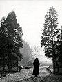 Non bezoekt kerkhof met Allerzielen - Nun visiting graveyard at All Souls' Day (6288419977).jpg