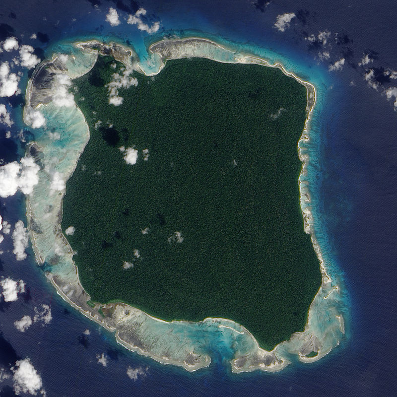 North Sentinel Island. NASA Earth Observatory image created by Jesse Allen, using data provided by the NASA EO-1 team.