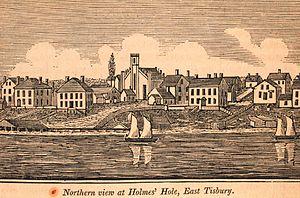 Tisbury, Massachusetts - Northern view of Holmes Hole, East Tisbury, 1841