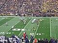 Northwestern vs. Michigan football 2012 09 (Michigan on offense).jpg