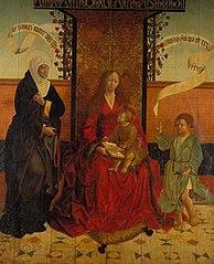 Mary and child, Saint Julita and Saint Guerito.