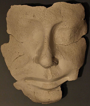 Reserve head - Modeled plaster cast of a face, 5th-6th dynasty, on display at the Kunsthistorisches Museum, Vienna