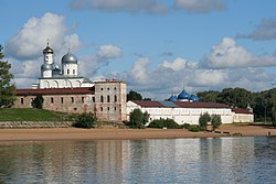 Novgorod - View on Yuriev Monastery from Volkhov 01.jpg