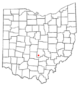 Location of Amanda Township in Ohio