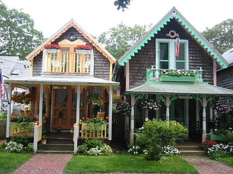 Oak Bluffs, Massachusetts - More cottages in the Campground area