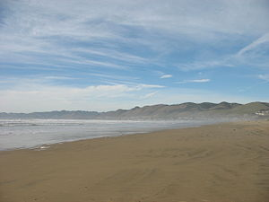Guadalupe-Nipomo Dunes - View of Pismo Beach from Oceano State Vehicular Recreation Area