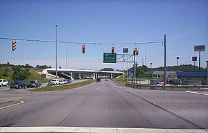 Ohio State Route 13 - State Route 13 at the Possum Run Road intersection heading northbound near the junction of I-71 in Mansfield.