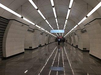 Okruzhnaya (Lyublinsko–Dmitrovskaya line) - Image: Okruzhnaya Moscow Metro March '18 07