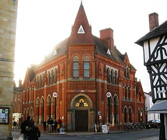 Birmingham Banking Company - Branch built at the junction of Chapel Street and Ely Street, Stratford-upon-Avon in 1883 by Harris, Martin and Harris
