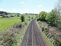 Old G&SWR from Kirkpatrick railway overbridge, Closeburn, Dumfries & Galloway.jpg