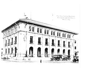 Old United States Post Office and Courthouse (Miami, Florida) - Old Miami Federal Building circa 1917, showing weather instruments