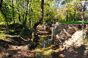 Old Town Bridge (Franklin, Tennessee) - The remains of Old Town Bridge, October 2014.