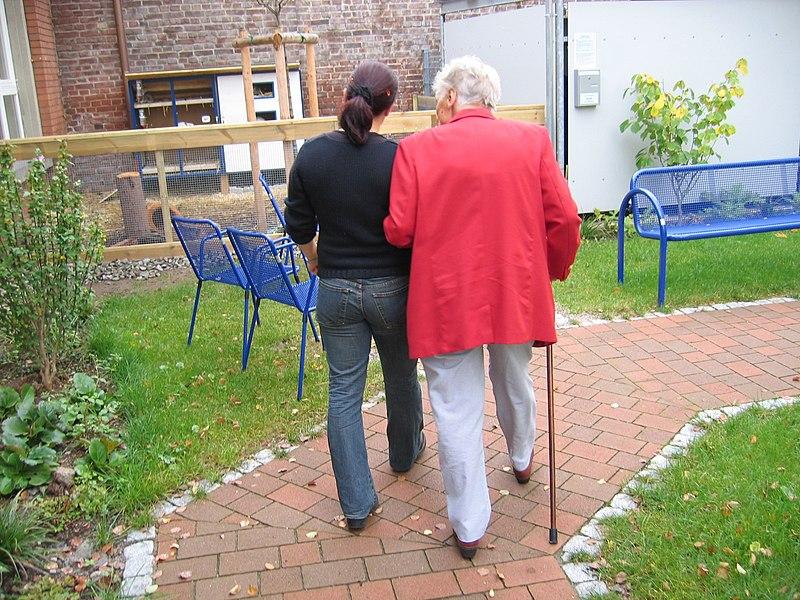 File:Old woman walk.jpg