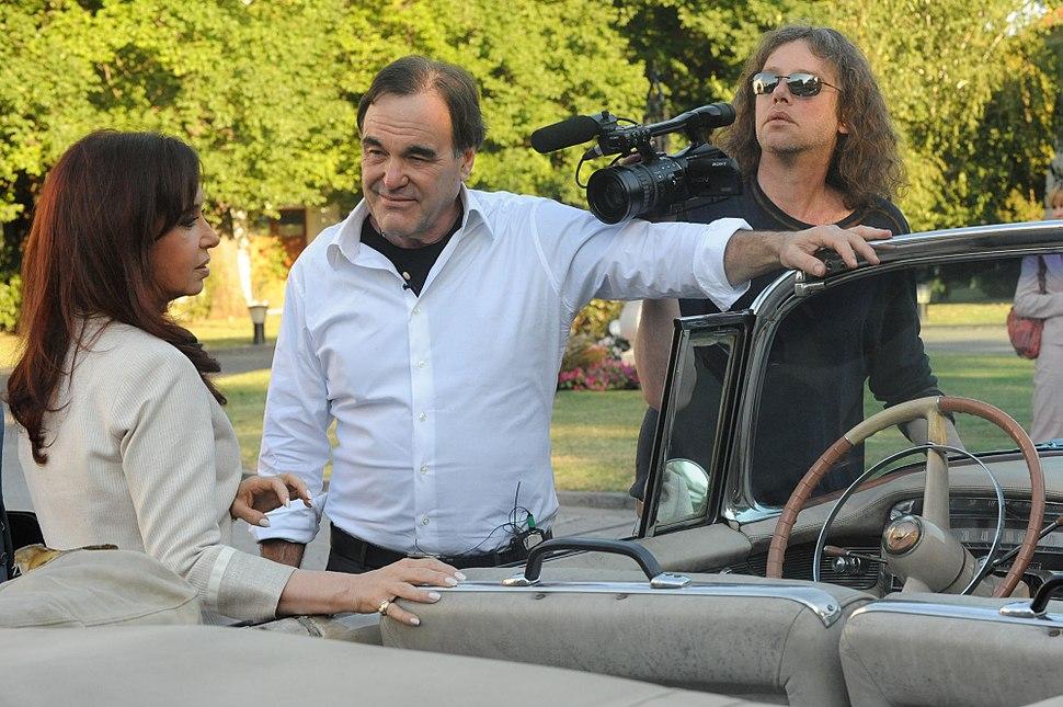 Oliver Stone and Cristina Fernandez de Kirchner