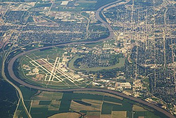 City of Omaha and Epply Airfield, with the Mis...