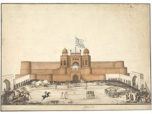 Agra - The Red fort, Agra, c. 1820