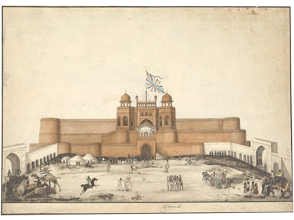 One of the drawings of Mughal monuments at Agra and Fatehpur Sikri