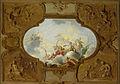 Ontwerp voor een plafondstuk met de apotheose van Aeneas, in de hoeken de vier jaargetijden in brunaille Rijksmuseum SK-A-4659.jpeg