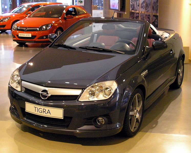 Opel Tigra 2011. Opel Tigra, known in the US as