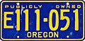 Oregon Exempt Publicly Owned license plate (blue) 02.jpg